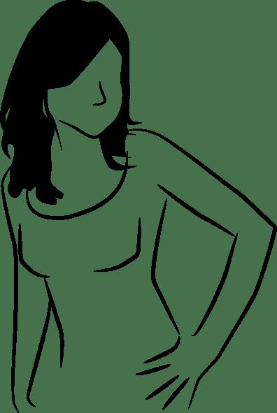 Line Woman clip art Free Vector / 4Vector