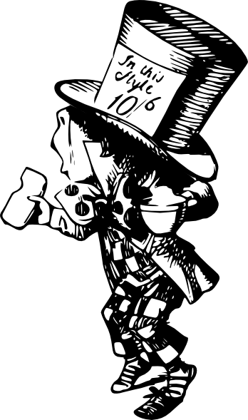 Mad Hatter clip art (106213) Free SVG Download / 4 Vector