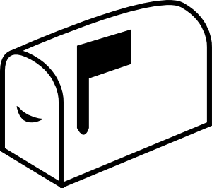 Mailbox With Flag clip art Free Vector / 4Vector