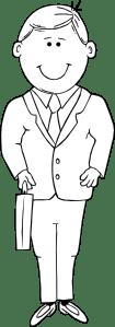 Man In Suit Outline clip art (108768) Free SVG Download