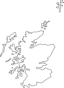Map Of Scotland clip art Free Vector / 4Vector
