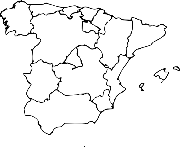 Map Of Spain clip art (108238) Free SVG Download / 4 Vector