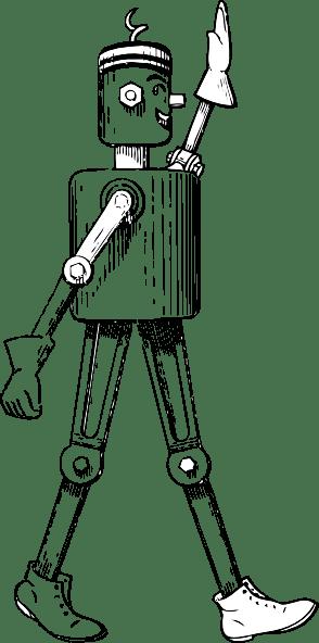 Mechanical Man Side View clip art Free Vector / 4Vector