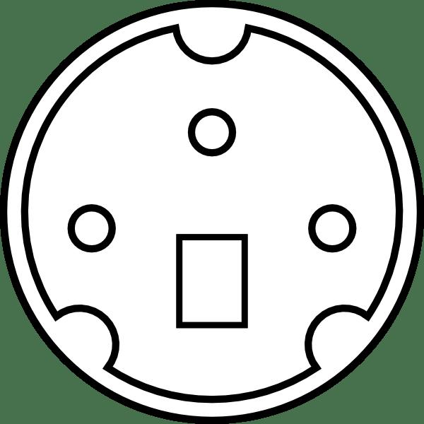 Minidin Diagram clip art Free Vector / 4Vector