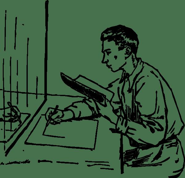 Mirror Drawing clip art (108474) Free SVG Download / 4Vector