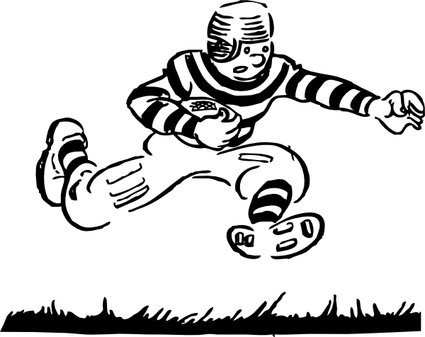 Old Time Football Player clip art (111264) Free SVG