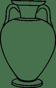 Outline Greek Amphora clip art (108558) Free SVG Download