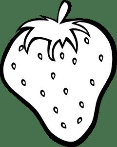 Outline Strawberry clip art (112728) Free SVG Download / 4