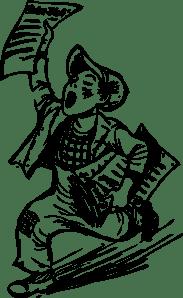 Paper Boy clip art (108102) Free SVG Download / 4 Vector