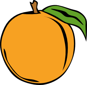 peach clip art 115247 free svg
