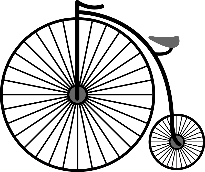 Penny Farthing Bicycle (102530) Free SVG Download / 4 Vector