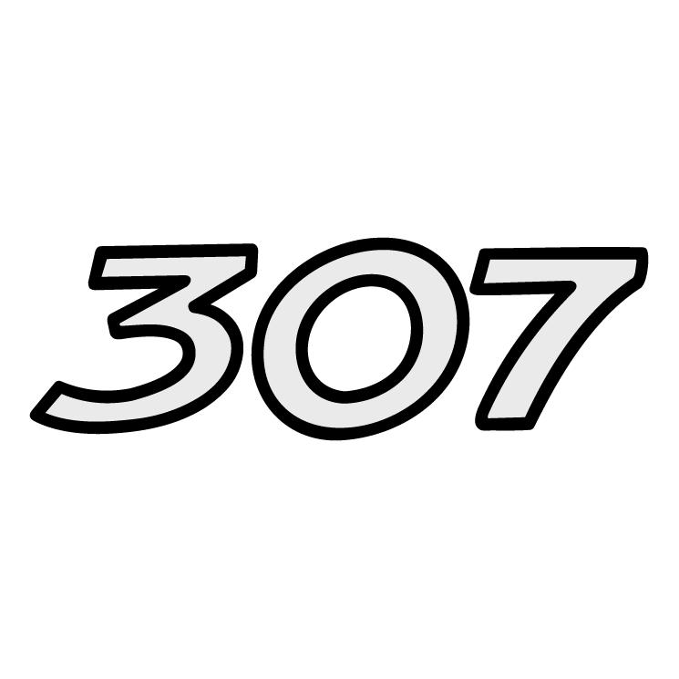 Peugeot 307 Free Vector / 4Vector