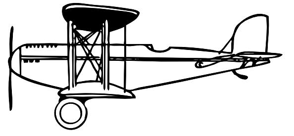 Plane Outline clip art Free Vector / 4Vector