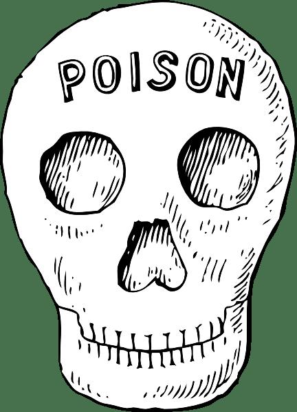 Poison Skull clip art Free Vector / 4Vector