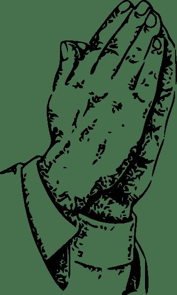Praying Hands clip art (108655) Free SVG Download / 4 Vector