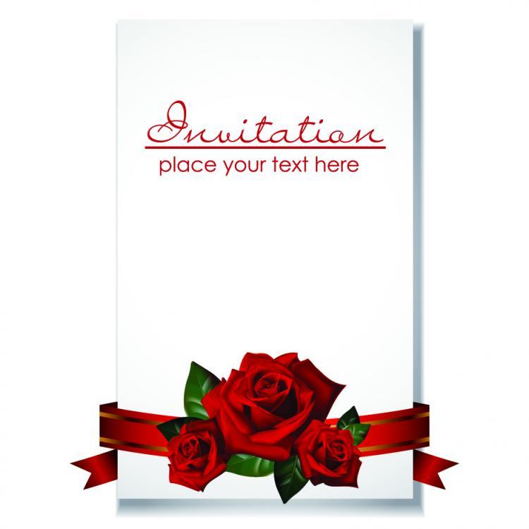 Romantic Wedding Invitations Vector Free