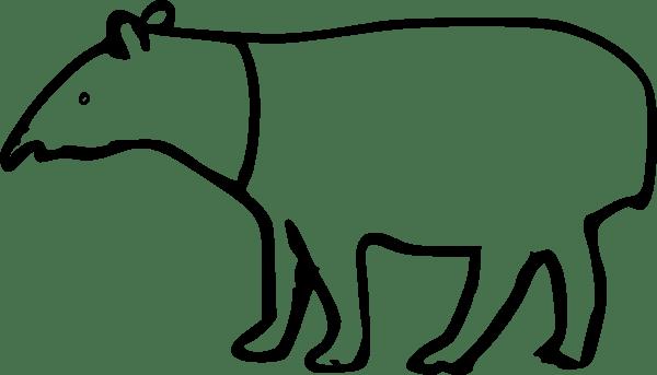 Rumpeltux Malayan Tapir clip art Free Vector / 4Vector