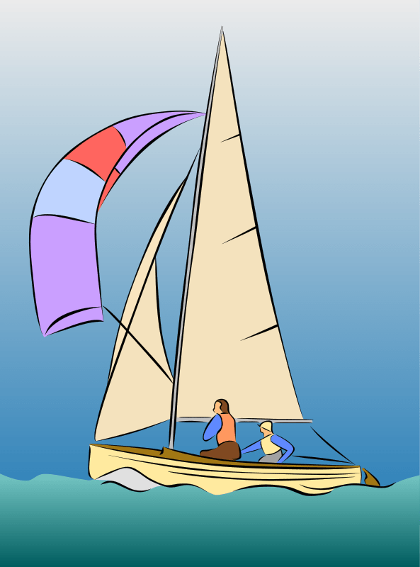 Sailing Dinghy Free Vector  4Vector