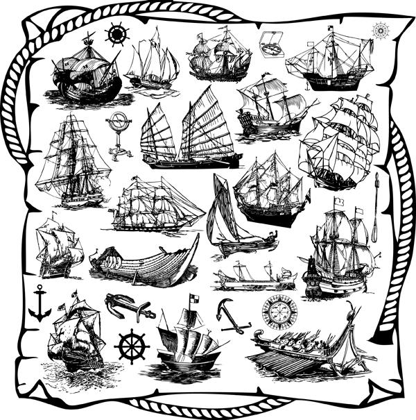 Sailing Ship Theme (120393) Free EPS Download / 4 Vector