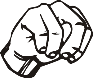 Sign Language N clip art Free Vector / 4Vector