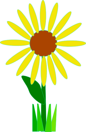 flower clip simple yellow vector svg