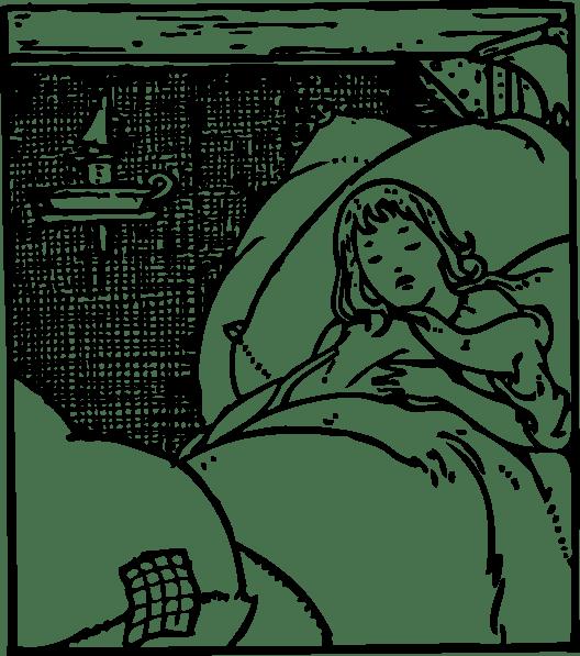 Sleeping Kid clip art Free Vector / 4Vector