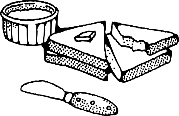 Sliced Bread With Butter clip art (109128) Free SVG