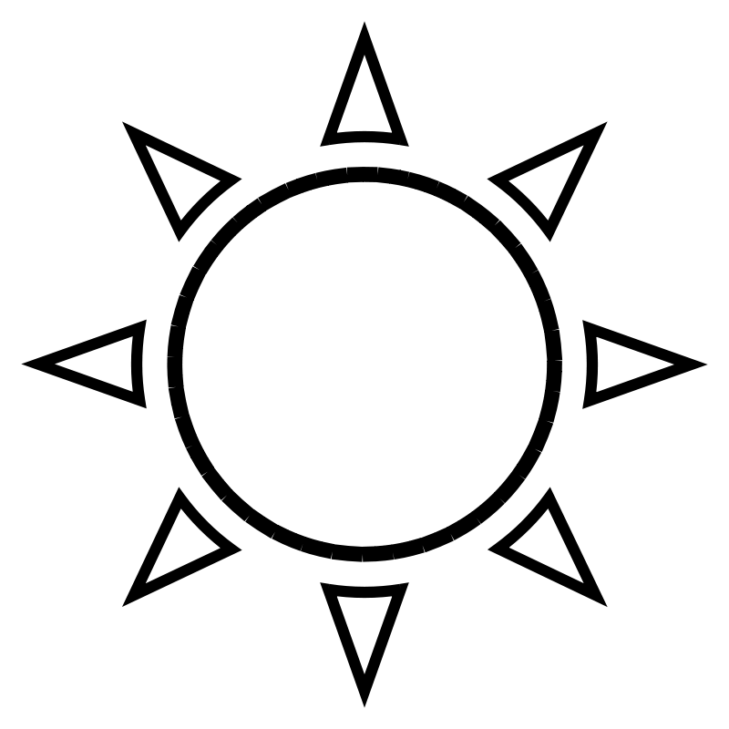 Sun outline Free Vector / 4Vector