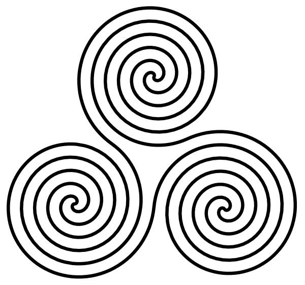 Triple Spiral Symbol clip art (109672) Free SVG Download