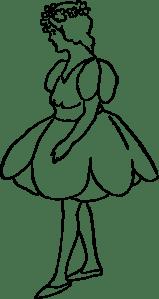 Tulip Girl clip art Free Vector / 4Vector