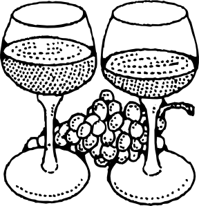 Two Glasses Of Wine clip art (107370) Free SVG Download