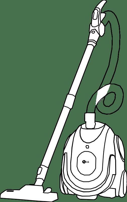 Vacuum Cleaner Line Art (101402) Free SVG Download / 4 Vector