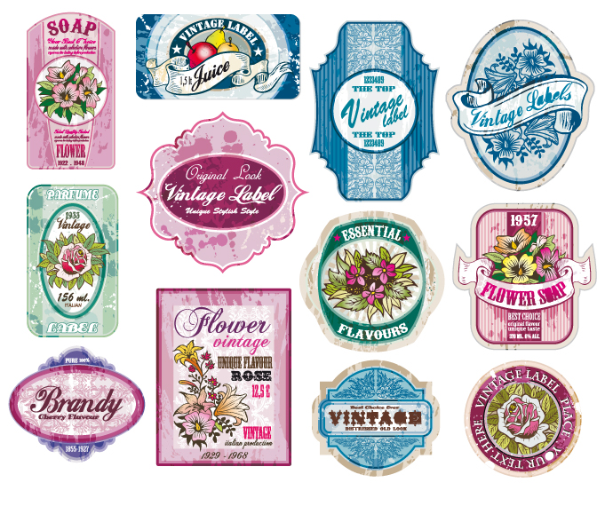 vintage wine label collection