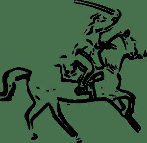 Warrior Horse Sword clip art (104434) Free SVG Download