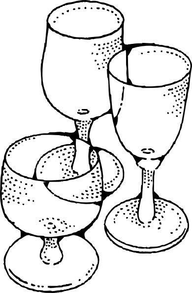 Wine Glasses clip art (108604) Free SVG Download / 4 Vector