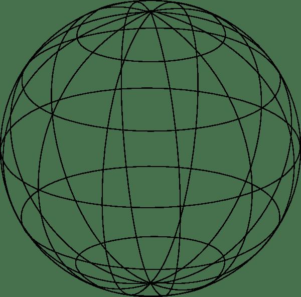 Wire Globe clip art Free Vector / 4Vector