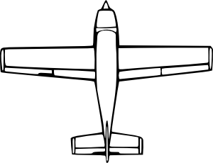 Wirelizard Top Down Airplane View clip art (104301) Free