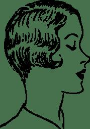 woman fashion haircut clip art