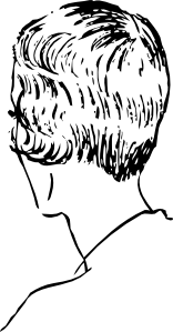 Woman S Bob Haircut Rear clip art (109024) Free SVG