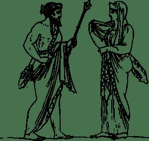 Zeus And Hera clip art Free Vector / 4Vector