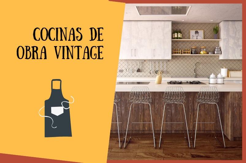 cocinas de obra vintage