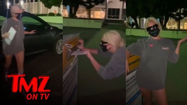 Lady Gaga Turned Her Trip to The Ballot Box Into a Catwalk | TMZ TV