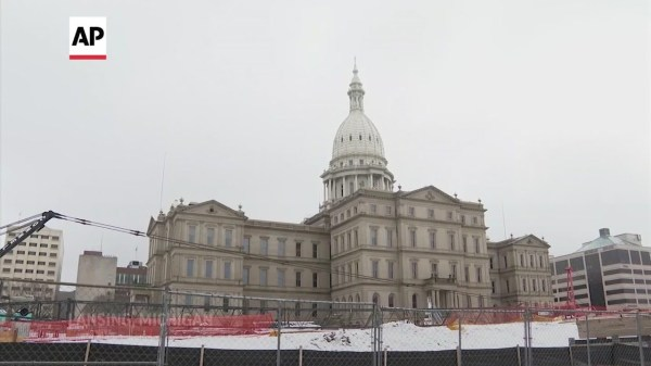 Small group demonstrates at Michigan Capitol