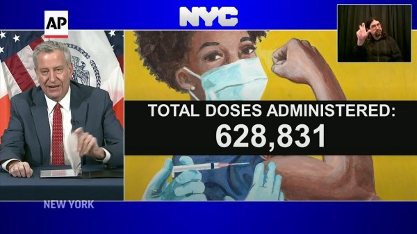 Mayor: NYC could vaccinate 500K a week in Feb.