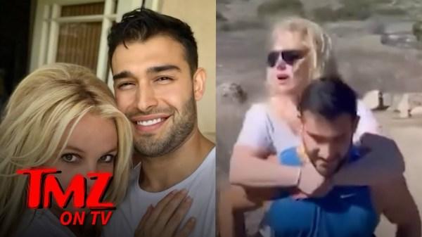 Britney Spears Goes On A Piggyback Ride On Her Boyfriend | TMZ TV