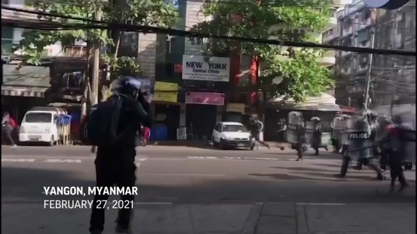 Video shows arrest of AP journalist in Myanmar