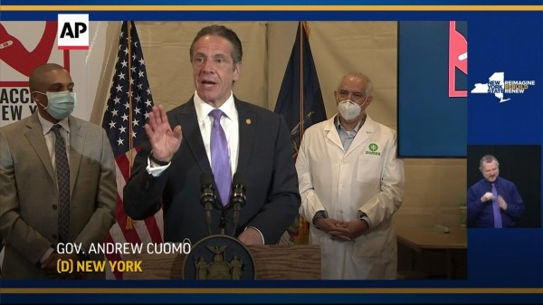 NY state expands vaccines to age 50 and up