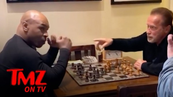 Mike Tyson Bros Down With Schwarzenegger at Arnold's L.A. Mansion | TMZ TV