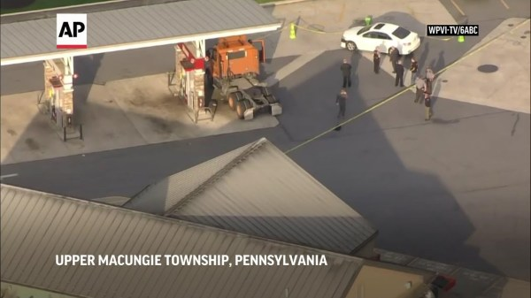 Man pumping gas killed, shooter dead in eastern PA