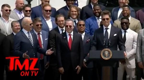 Tom Brady Cracks Trump Joke At White House Celebration | TMZ on TV